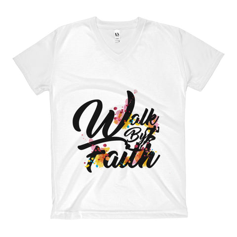 Walk By Faith - All-over Women's V-Neck