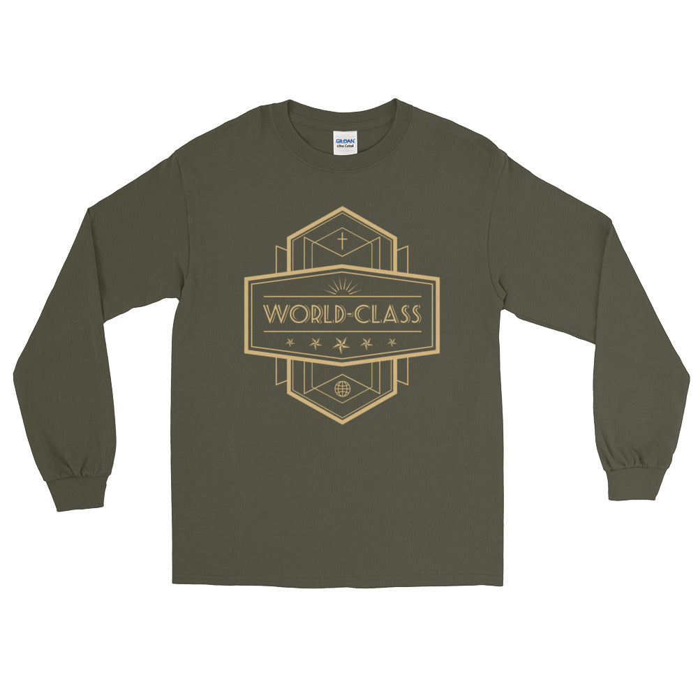 Men's Long Sleeve T-Shirt - World Class - Gold