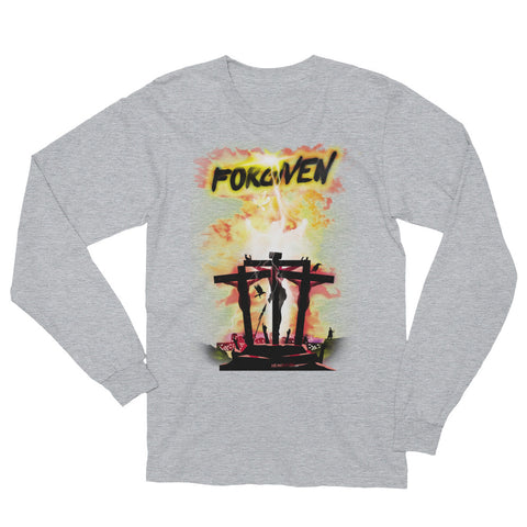 Unisex Long Sleeve T-Shirt  - Forgiven - Yellow