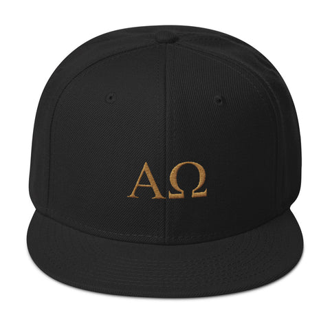 Snapback Hat - Alpha and Omega