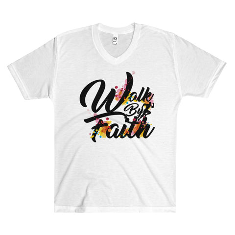 Walk By Faith - All-over Men's V-Neck