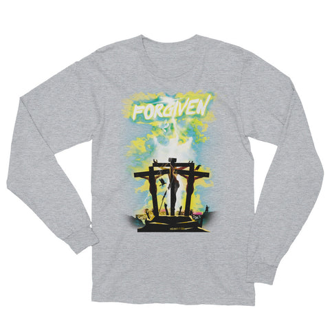 Unisex Long Sleeve T-Shirt  - Forgiven - Green
