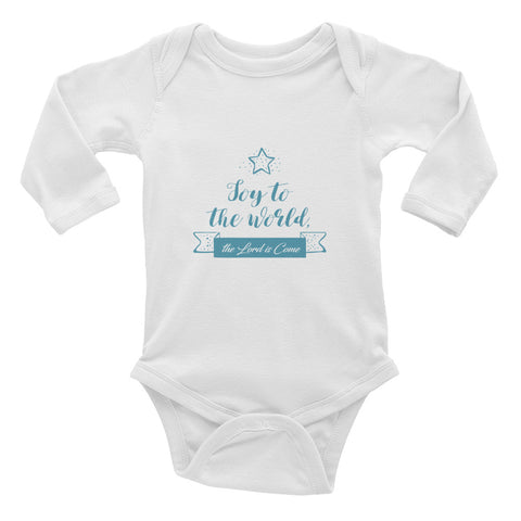 Infant Long Sleeve Bodysuit - Joy to the world the Lord is come