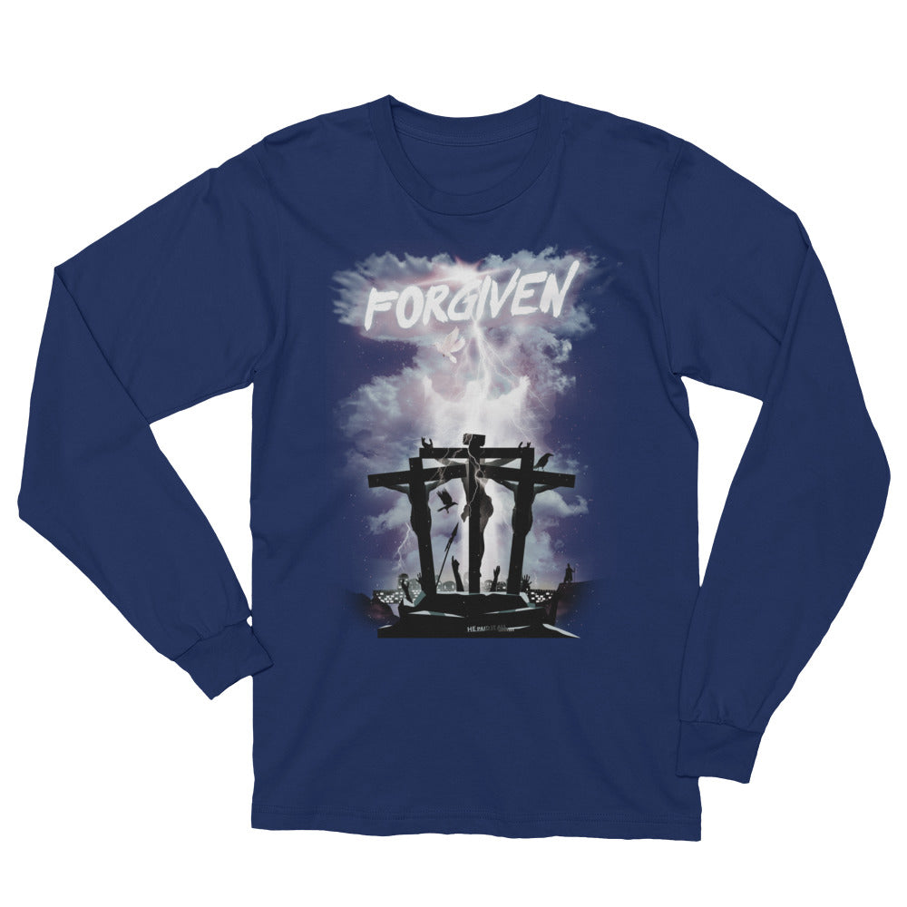 Unisex Long Sleeve T-Shirt - Forgiven - Grey