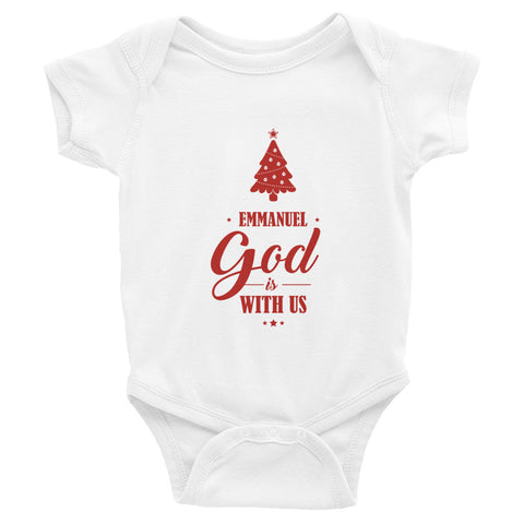 Infant Bodysuit - Matthew 1:23 Emmanuel. God is with us