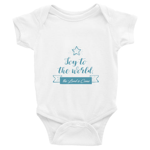 Infant Bodysuit - Joy to the world the Lord is come