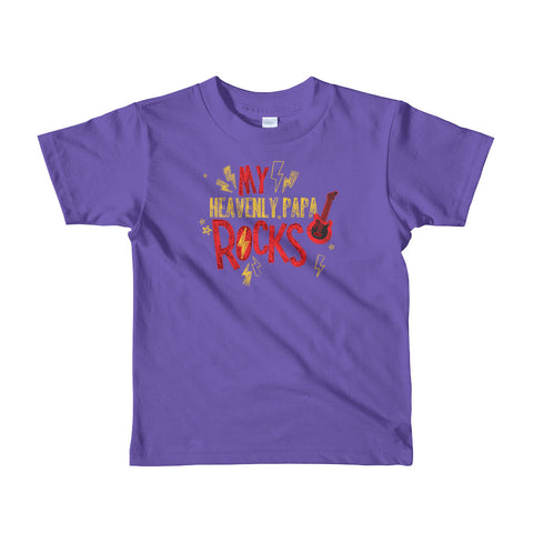 My Heavenly Papa Rocks - Short sleeve kids t-shirt