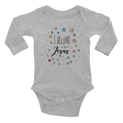 I Belong to Jesus - Infant Long Sleeve Bodysuit