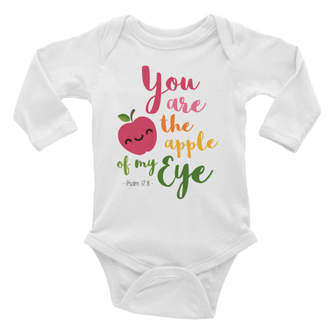 Apple of My Eye - Infant Long Sleeve Bodysuit