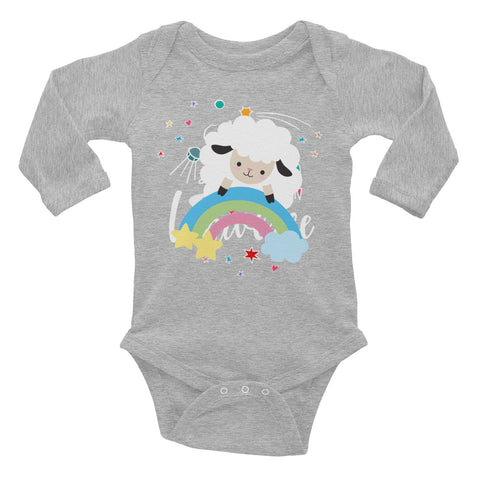 Secured by His Promise - Infant Long Sleeve Bodysuit