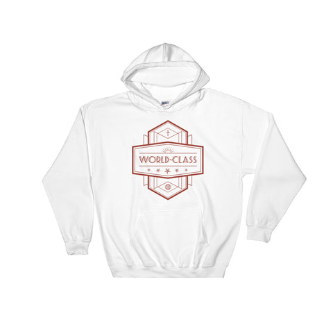 Men's Hooded Sweatshirt - World Class - Red