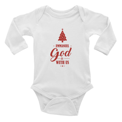 Infant Long Sleeve Bodysuit - Matthew 1:23 Emmanuel. God is with us.