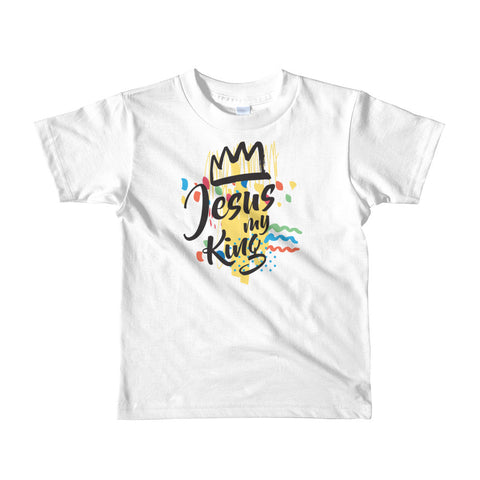 Jesus My King - Short sleeve kids t-shirt