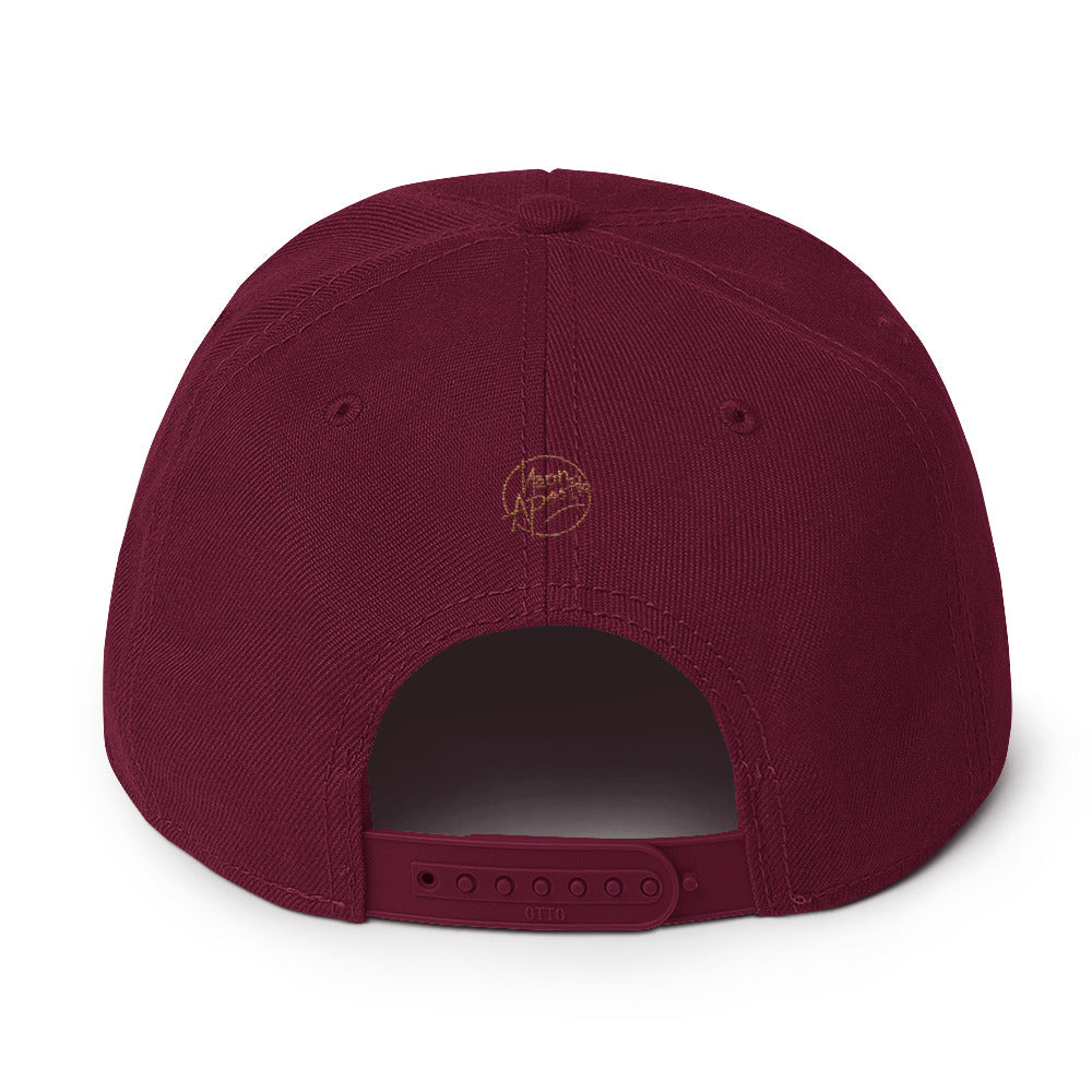 Snapback Hat - Miracles - Brown and Black