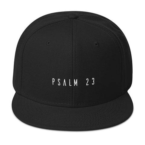 Snapback Hat - Psalm 23 - White