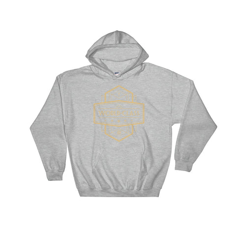 Women's Hooded Sweatshirt - World Class - Gold