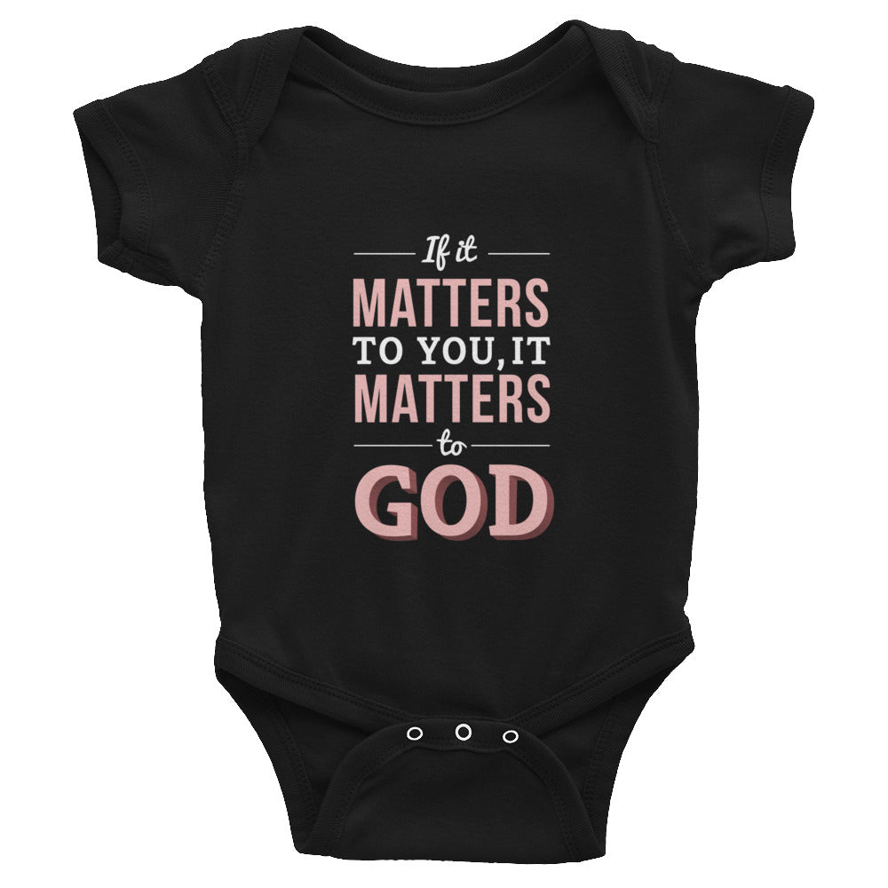 Infant Bodysuit - Luke 12:6-7 If it matters to you, it matters to God