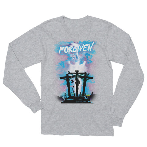 Unisex Long Sleeve T-Shirt - Forgiven - Blue