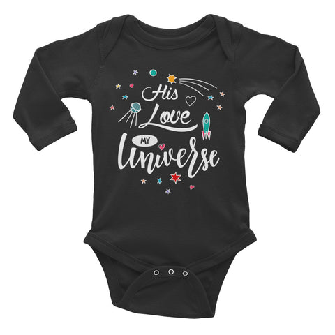 His Love My Universe - Infant Long Sleeve Bodysuit