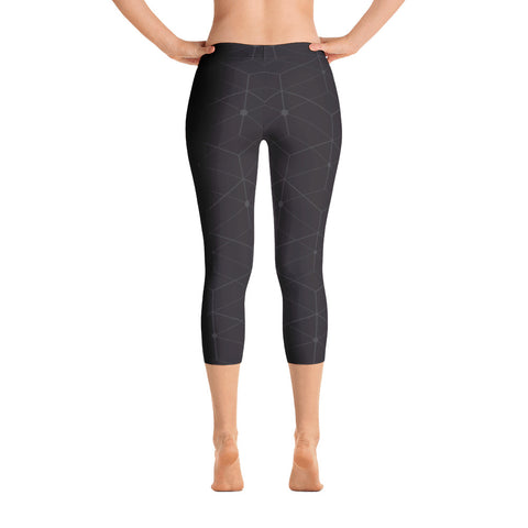 Master Plan - Black - All Over Capri Leggings