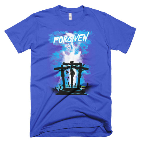 Men's Short-Sleeve T-Shirt - Forgiven - Blue