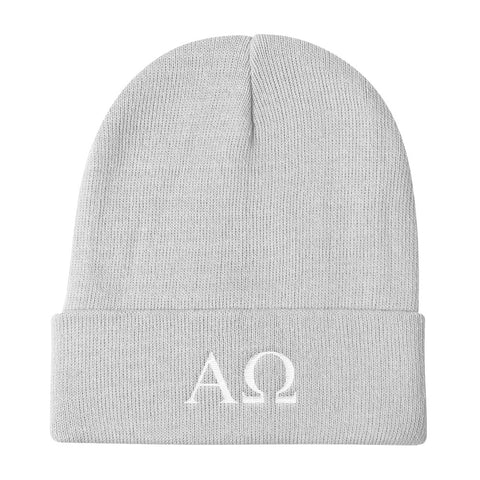 Knit Beanie - Alpha and Omega