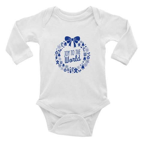 Infant Long Sleeve Bodysuit - Joy to the world