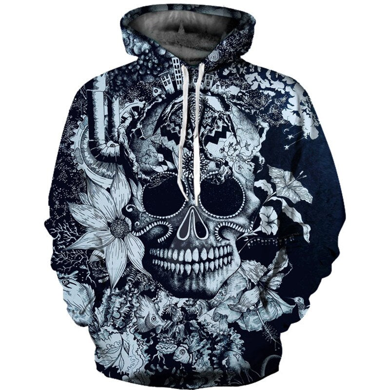 Platinum Edition Hoodie with beautiful skull Art design