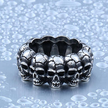 Heavy Metal Skull Stainless Steel Titanium Ring
