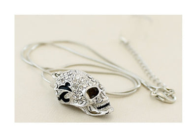 Crystal Skull Pendant Necklace