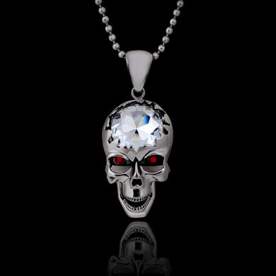 Pendant Silver Skull Necklace
