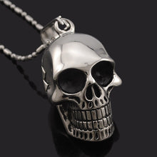 Stainless Steel Skull Pendant Necklace