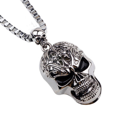 Skull necklace high fashion