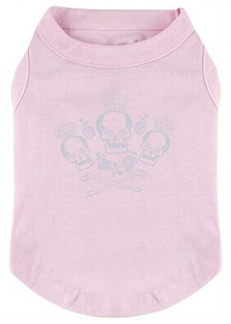Crown bones Printed T-Shirts for Pet wear