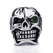 Silver Stainless Steel Skull Ring