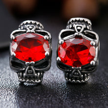 Red Skull Vintage Earrings