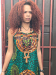 Tie back African print dress size S/M