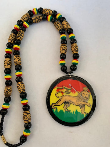 Lion of Judah Rastafari blessings necklace