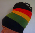 Black Rasta Open Top Headband