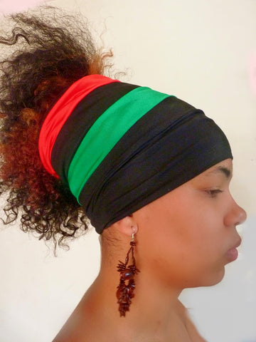 Black Pan African Open Top Headband