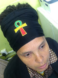 rasta Headband With Ankh locs hugger locsoc