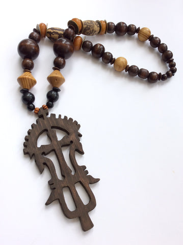 Hand Carved Lalibela Cross Ethiopian cross Pendant necklace