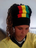 Black Vertical Rasta Open Top Headband