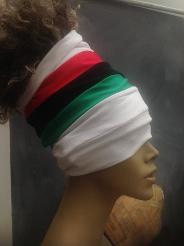 White Pan African Open Top Headband