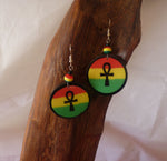 Ankh Round Earrings