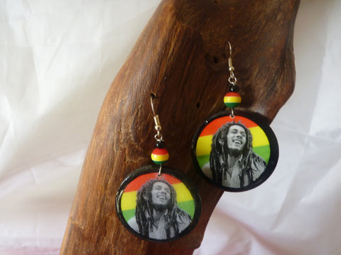 Bob Marley Earrings rasta earrings