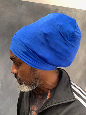 Royal Blue Rasta turban headwrap bobo nyabinghi headwrap black turban