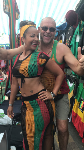 rasta skirt and top rasta string dress beachwear