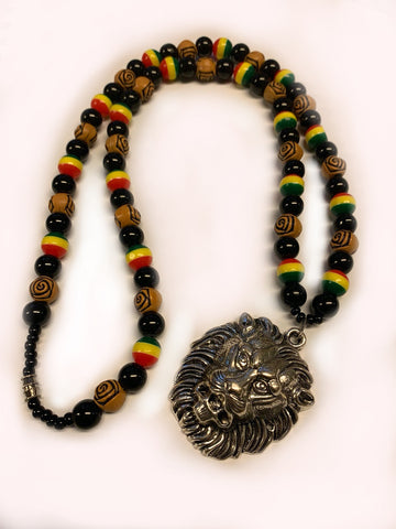 Rastafari lion necklace