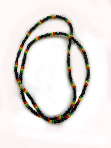 Rastafari plain beaded necklace